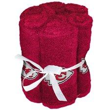 NFL Chiefs Wash Cloth (Set of 6)