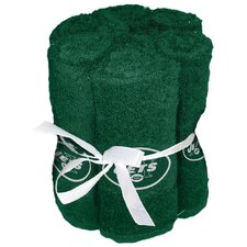 NFL Jets Wash Cloth (Set of 6)