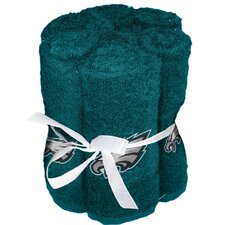 NFL Eagles Wash Cloth (Set of 6)