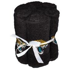 NFL Jaguars Wash Cloth (Set of 6)
