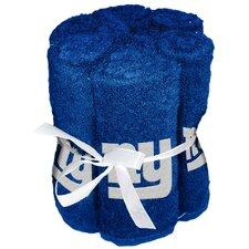 NFL Giants Wash Cloth (Set of 6)