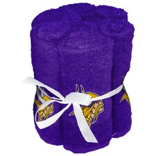 NFL Vikings Wash Cloth (Set of 6)