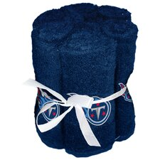 NFL Titans Wash Cloth (Set of 6)