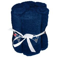 NFL Patriots Wash Cloth (Set of 6)