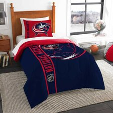 NHL Blue Jackets Puck 2 Piece Twin Comforter Set