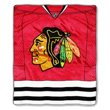 NHL Chicago Blackhawks Puck Super Plush Throw