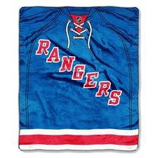 NHL New York Rangers Puck Super Plush Throw