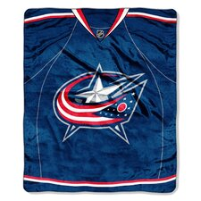 NHL Columbus Blue Jackets Puck Super Plush Throw