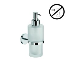 Duemila Self-Adhesive Soap Dispenser Holder with Frosted Glass Soap Dispenser