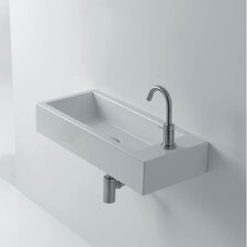 "Hox 20"" Ceramic Wall Mounted Bathroom Sink with Right Faucet"