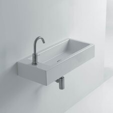 """Hox 20"""" Ceramic Wall Mounted Bathroom Sink with Right Faucet"""