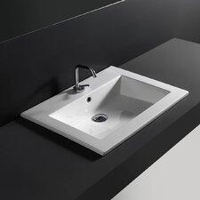 Drop-In Bathroom Sink with Overflow