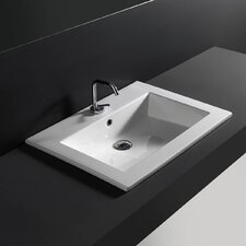 Drop-In Bathroom Sink with Overflow