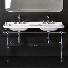 "Waldorf 59.1"" Double Bathroom Sink with Overflow"