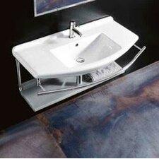 "Topazio Vessel 29.5"" Bathroom Sink with Overflow"