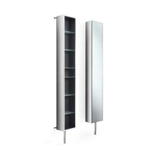 """Linea 9.8"""" x 72"""" Mirrored Free Standing Linen Tower"""