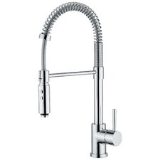 Linea One Handle Single Hole Bar Faucet with Pull Out Spray