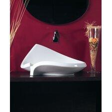 "Ceramica 25.6"" x 18.1"" Vessel Sink in White"
