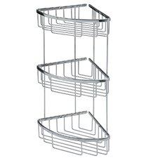 """Filo 7.8"""" x 7.8"""" Shower Basket Triple in Polished Chromed"""