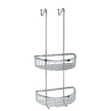 """Filo 9.8"""" x 9.5"""" Hanging Shower Basket in Polished Chrome"""