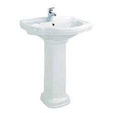 """Klassic 25.9"""" Free Standing Pedestal Bathroom Sink"""