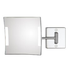 Quadrolo 1-Arm Hard Wired LED Magnifying Mirror