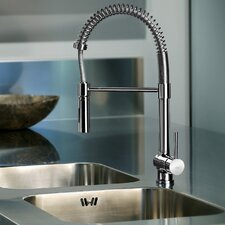 Stick Single Handle Deck Mounted Kitchen Faucet with Dual Spray