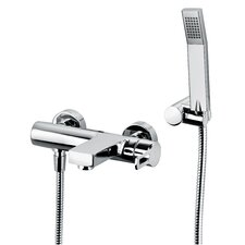 Fonte Ringo Single Handle Wall Mount Tub Filler with Handshower