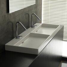 Ceramica I Urban Ceramic Double Bathroom Sink
