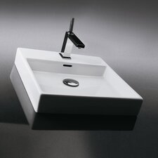 Ceramica Valdama Plain Wall Mounted / Vessel Bathroom Sink