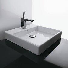 Ceramica Valdama Plain Vessel Bathroom Sink