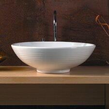 Ceramica Vessel Sink in White