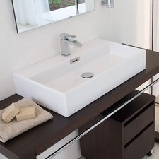 Qaurelo Wall Mounted Vessel Bathroom Sink