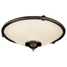 Low Profile 3 Light Bowl Ceiling Fan Light Kit