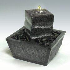 Pillar Stone and Fiberglass/Resin Tabletop Fountain