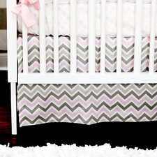Peace and Love Pink 2 Piece Crib Bedding Set