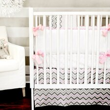 Peace and Love Pink 4 Piece Crib Bedding Set