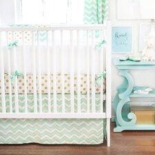 Gold Rush 4 Piece Crib Bedding Set
