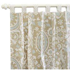 Picket Fence Curtain Panel (Set of 2)