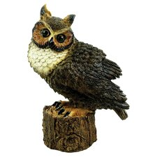 Great Horned Owl Perched Statue