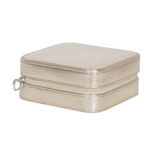 Luna Travel Metallic Faux Leather Jewelry Case