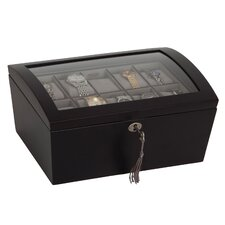 Royce Locking Glass Top Watch Box
