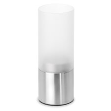 Faro Stainless Steel & Frosted Glass Hurricane