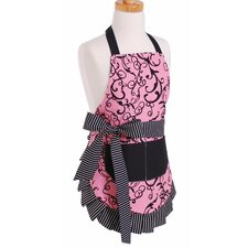 Girl's Apron in Chic Pink