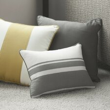 Triple Band Cotton Throw Pillow