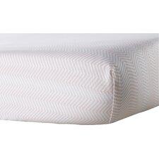Zig Zag Flat Crib Sheet
