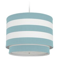 Stripe 3 Light Double Cylinder Pendant- Aqua