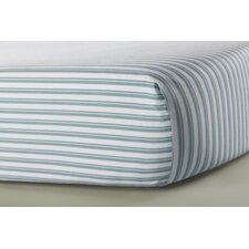 Modern Berries Striped Flat Crib Sheet