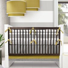 Triple Band 3 Piece Crib Bedding Set