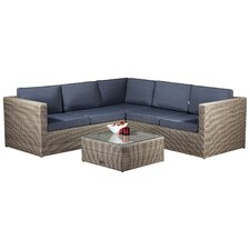 Hampton 5 Seater Sectional Sofa Set with Cushions